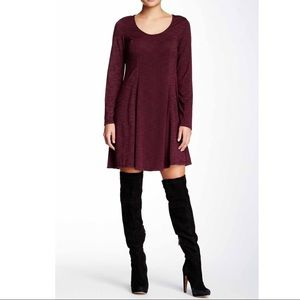 Max Studio Burgundy Dress